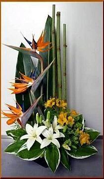 Flowers bouquet floral arrangements ikebana ideas - World News Arrangements Ikebana, Funeral Floral Arrangements, Tropical Flower Arrangements, Creative Flower Arrangements, Ikebana Flower Arrangement, Church Flower Arrangements, Beautiful Flower Arrangements, Unique Flowers, Exotic Flowers