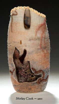 Canyon Felted Vessel by FlamesAndFiber on Etsy, $155.00