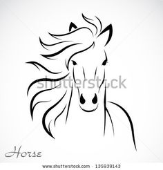 Vector image of an horse on white background by yod67, via Shutterstock