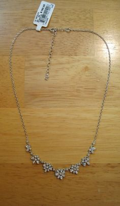 B. Brilliant~Sterling Silver~Cubic Zirconia Flower Burst Necklace~Bridal~$180 #BBrilliant #Statement