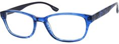 Order online, women blue full rim acetate/plastic wayfarer eyeglass frames model #625416.