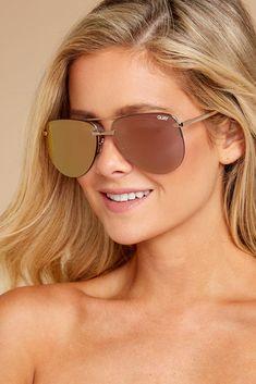 7486e680518ae Quay Australia Gold Pink Sunglasses - Chic Sunnies - Sunglasses -  60 – Red  Dress Boutique