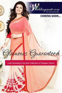 Glamours Guaranteed!! Look Stunning In Our New Collection Of Designer Saree ‪#‎WeddingMatt‬ ‪#‎WeddingCollection‬ ‪#‎DesignerSaree‬ Coming Soon:- http://weddingmatt.com/