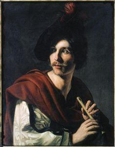 ♪ The Musical Arts ♪ music musician paintings - Nicolas Tournier   Flautist c. 1624