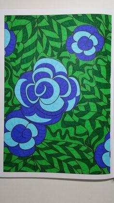 Coloriage issu du livre : 100 Nouveaux coloriages - Hachette LOISIRS - Art thérapie. Gribouilleuse.com #100nouveauxcoloriages #arttherapie #artthérapie #bicvisaquarelle #coloriageantistress #coloriagepouradultes #coloriage