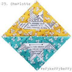 verykerryberry: Farmer's Wife QAL Blocks 23 and 24: Charlotte and Coral