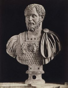 Septimius Severus.  Marble.  Rome, Capitoline Museums, Palazzo Nuovo, Hall of the Emperors.