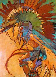 """""""Eagle Dancer"""" 30 x 40 acrylic on canvas"""