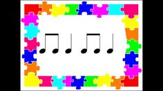 A fun way to practice reading known rhythmic elements, ta, ti ti, rest and tika tika. Play this clip and students read and perform the rhythms shown. Kindergarten Music, Kindergarten Lesson Plans, Elementary Music Lessons, Music Lesson Plans, Music And Movement, Primary Music, Piano Teaching, Music Activities, Music Classroom