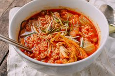 Quick and Easy Kimchi Ramen, by thewoksoflife.com