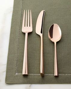 Five-Piece Malmo Rose Gold Flatware Place Setting by kate spade new york at Horchow.
