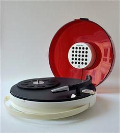 "Philips 22GF-303 ""UFO"" Portable Record Player, 1960s"