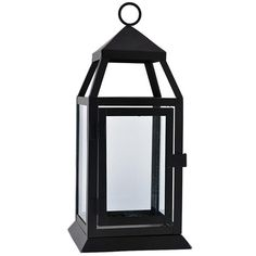 Large classic lantern in black This classic black lantern is a great addition to your event. The rich matte black looks gorgeous paired with a simple pillar can