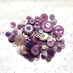 Periwinkle  Purple Lavender Buttons