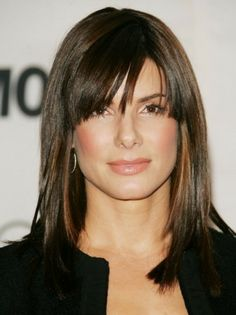 Medium Length Hairstyles for Women Over 40 with Bangs