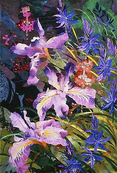 detail of Pacific Coast Iris with Camas by Amanda Richardson