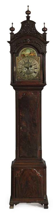 1766-1775 Chippendale carved mahogany tall-case clock, carving attributed to James Reynolds and the dial is signed by William Anderson