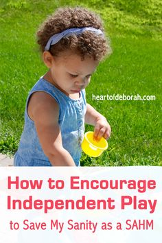 As a SAHM I need to have some alone time. This is why we encourage independent play. Here are some practical tips to get your kids playing by themselves for short periods of time!