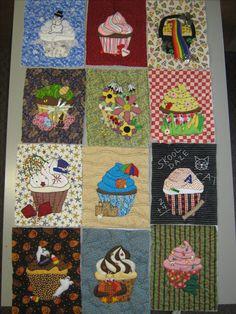 Cupcake Quilt Panels