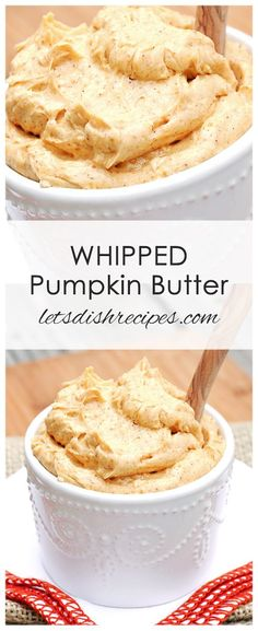 Whipped Pumpkin Butter Recipe: Whipped Pumpkin Butter If you find yourself with leftover pumpkin puree after opening a can for a recipe, mix up some of this sweet, creamy pumpkin butter for toast, muffins, pancakes and more! #pumpkin #butter #recipes