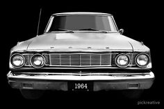 1964 Ford Fairlane 500.  Available as T-Shirts & Hoodies, Phone Cases, Posters, & more