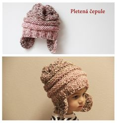 Návod na pletenou čepici / Easy knit hat tutorial Easy Knit Hat, Knitted Hats, Crochet Hats, Hat Tutorial, Diy And Crafts, Knitting, Knitting Hats, Tricot, Breien