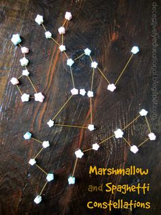 Relentlessly Fun, Deceptively Educational: Marshmallow & Spaghetti Constellations