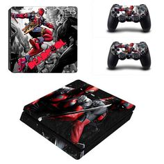 Competent Deadpool Xbox One S Sticker Console Decal Xbox One Controller Vinyl Skin Video Game Accessories Video Games & Consoles
