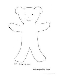 Free paper doll template halloween costumes free paper for Felt dress up doll template