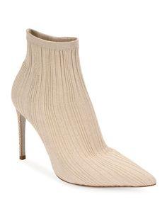 Rene Caovilla Knit Sock Booties | Neiman Marcus