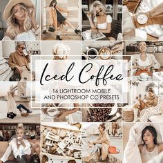 Iced Coffee Lightroom Presets are all about that brown tones creating a cozy feeling. Photoshop Filters, Photoshop Presets, Vsco Presets, Adobe Photoshop, Photography Editing, Photo Editing, Photography Business, Photography Challenge, Blog Images