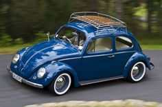 Blue w/ white walls #classicvolkswagenbeetle
