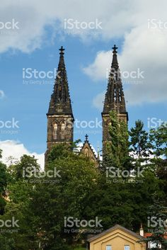 Church of Saint. Peter and Paul at Vysehrad, Prague royalty-free stock photo