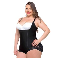b9ed23270 Fajas Colombianas Body Shaper Tummy Control Shapewear Compression Garment -  Ref 013 Body Suit With Shorts
