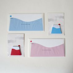 Mt. Fuji Envelopes and sticky notes
