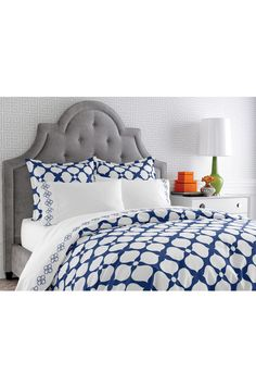 Hollywood Navy Duvet - King by Jonathan Adler on @nordstrom_rack