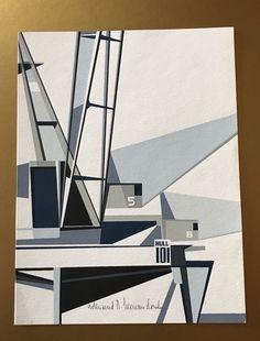 Estate 1960's Pencil Signed Edmund Lewandowski Hull 101 Abstract Serigraph Art     eBay