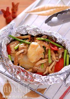烤肉食譜,中秋節食譜-鱈魚百菇和風蒸包BBQ