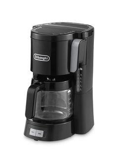 Delonghi ICM15240 Front Loading Filter Coffee Maker, 1.3 Litre, 10-15 Cup Capacity, 1000 Watts - Black