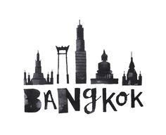 Calligraphy representations of famous landmarks/buildings from various cities.
