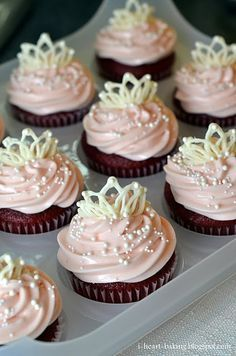 DUH... brilliant! In all my searching for cupcake decor ideas, why did this one escape me? I use melted chocolate for lettering all the time. Now... how to use this method for gender reveal cupcakes?
