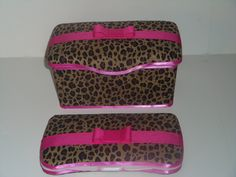 2 pc cheetah leopard Hot Pink Baby Diaper Wipe case Set Nursery and Travel Huggies Wipes Wet Wipe. $18.99, via Etsy.