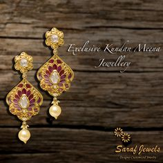 """""""In-Trend"""" exclusive collection of Kundan - Meena Jewellery at Jaipur Showroom of Saraf Jewels. We also deal in customized jewellery. Your Thoughts, Our Implementation!! For queries; Call: 0141-4026333 or Whatsapp: +91 9829055333  #kundan #kundanjewellery #kundanmeena #finejewellery #jewellery #gold #earrings #kundanearrings #jaipur #India"""