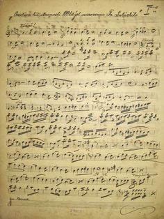 STUNNING Antique Handwritten Sheet Music from 1903 by MLouIsPink