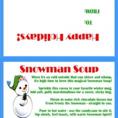 DIY Snowman Soup Tutorial with free printable~grandkidlets just love this! Christmas Float Ideas, Christmas Holidays, Holiday Ideas, Winter Ideas, Holiday Recipes, Merry Christmas, Snowman Soup, Cute Snowman, Free Printable Tags