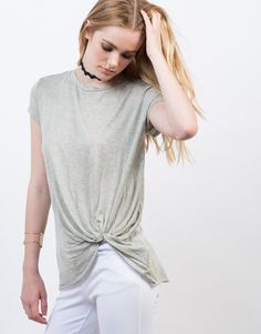 Detail of Knot It Up Tee