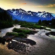 Girdwood, Alaska... photo taken at midnight on June 26th, 2012
