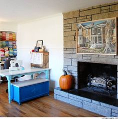 Fireplace in Craft and Office Space