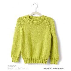 Chartreuse Knit Pullover | AllFreeKnitting.com