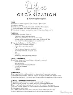 Office organization ideas and minimalist checklist – School Calendar İdeas.